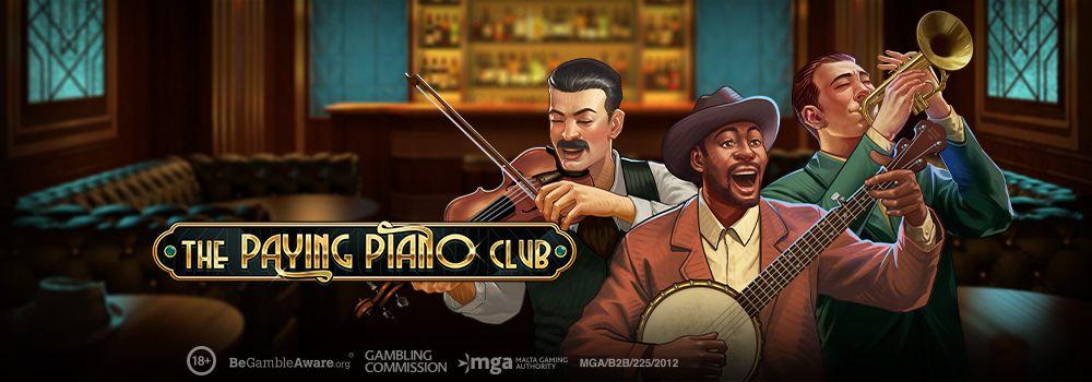 machine à sous en ligne The Paying Piano Club développeur Play'n Go