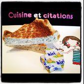 Ma tarte au thon et au kiri.... Pour les gastronomes en culottes courtes ! - Le blog de cuisineetcitations-leblog