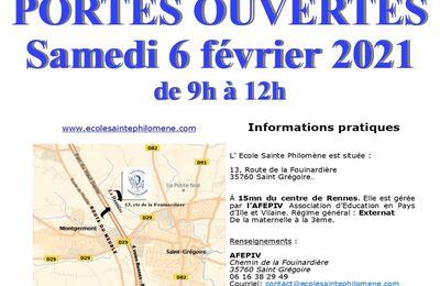 PORTES OUVERTES samedi 6 février 2021 de 9h à midi