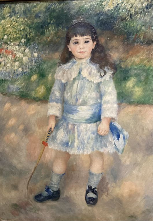 Renoir : enfant au fouet, femme à l'éventail, Grenouillère, Jeanne Samary, Moulin de la Galette, tête de femme