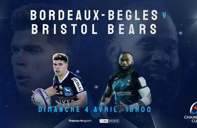 Bordeaux-Bègles / Bristol : Sur quelle chaîne suivre en clair la rencontre dimanche ?