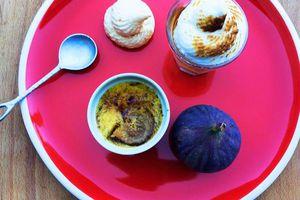 Crème brûlé à la figue et meringuée d'Amélie Poulain- Bataille Food #38