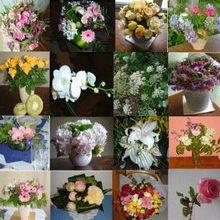 Brassée de fleurs et....deux oeufs!!!!