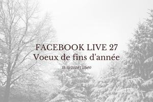 Facebook Live 27 Préparons Noël