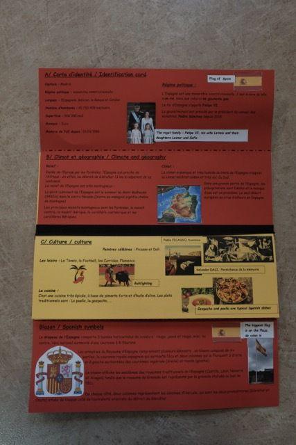 Brochure touristique sur un pays