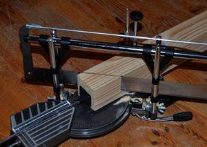 Outil de découpe du liège à 45°