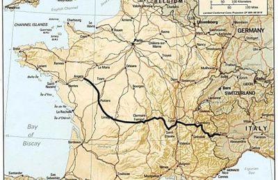 notre itinéraire en France