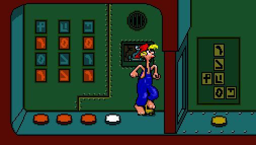 Winning the game allows Bubba to leave the prison. The Yellow button changes the symbols hierarchy and thus slightly changes the game's dynamic for the next time Bubba is captured.