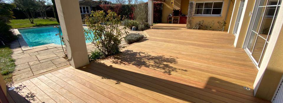 Pose terrasse bois Nantes Vertou