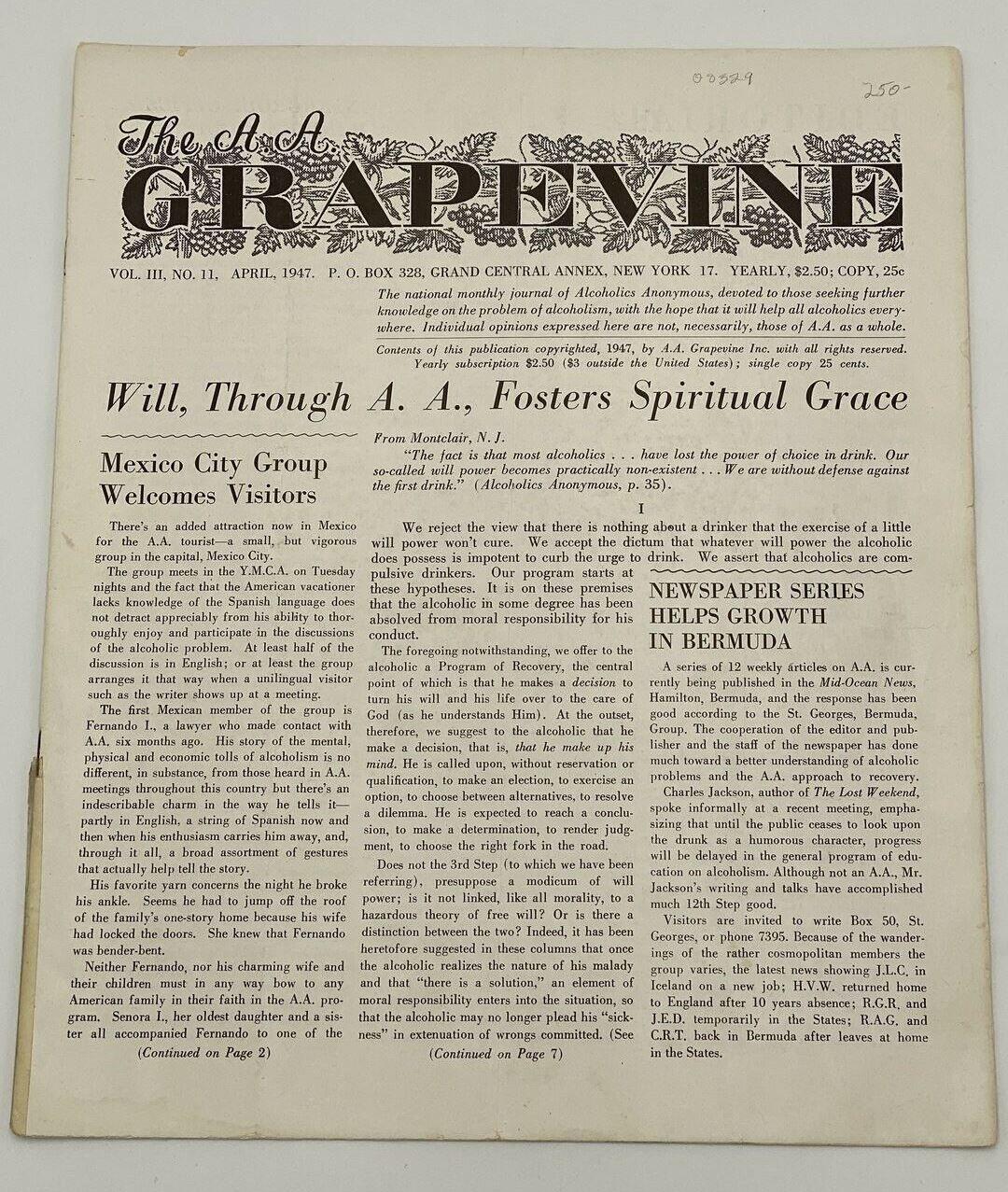 """Grapevine, Avril 1947 : """"Le groupe Mexico City accueille les visiteurs"""""""