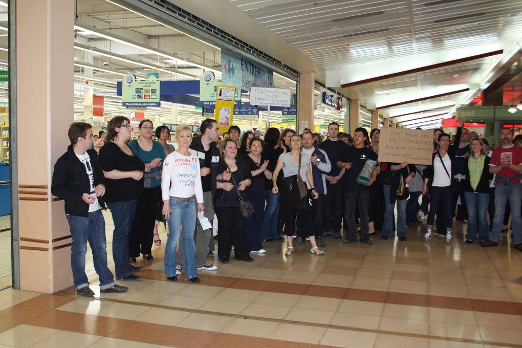 Les hypermarchés Carrefour en grève Journée mouvementée en perspective dans les hypermarchés Carrefour. Selon les syndicats, l'appel à la grève national lancé par FO, la CGT et la CFDT (voir nos éditions du 30 mars) devrait être très sui
