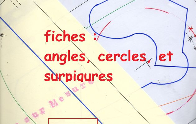 pdf : Apprentissage fiches angles, cercles, surpiqures.