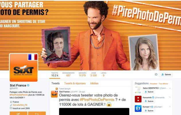 Buzz : #PirePhotoDePermis  l'opération Twitter de SIXT
