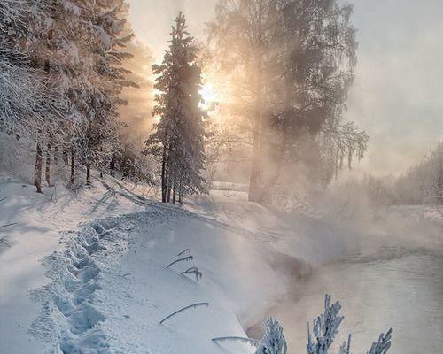 La magie de la neige...