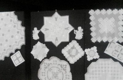 Quand Thoiry brode le Hardanger - Hardanger embroideries in Thoiry (France)