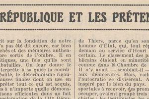 """Renée Dunan """"La IIIe République et les prétendants"""" (1920)"""