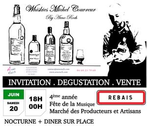 Invitation Dégustation Vente Whiskies Michel Couvreur