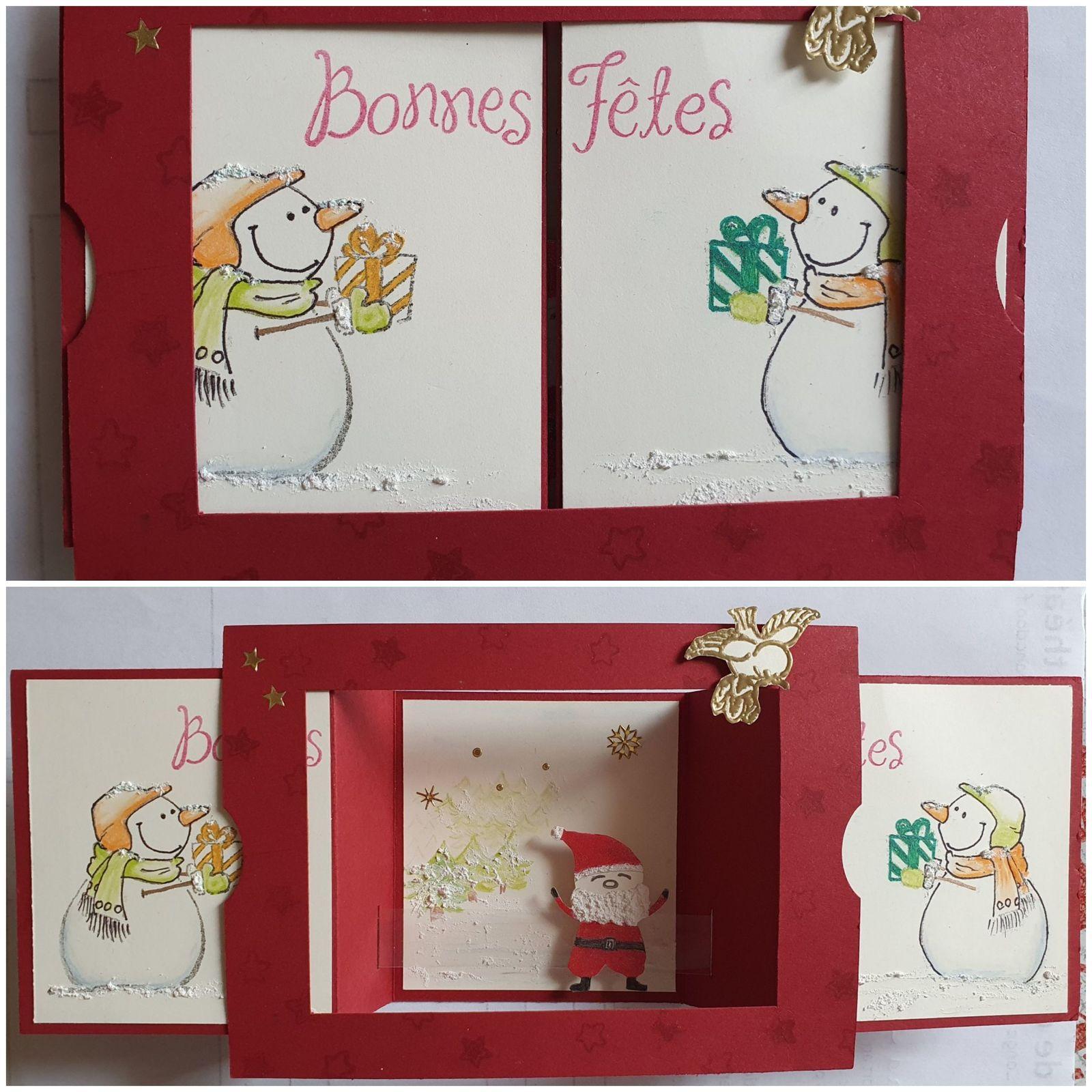 """Carte de Noël """"théâtre"""""""