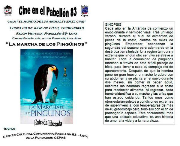 Tomé - Chili - 29 Septembre : Cine en el Pabellón 83