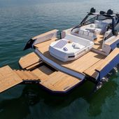 Yachting Festival 2020 - Evo R6 Open, a luxury open with a spectacular diving board - Yachting Art Magazine