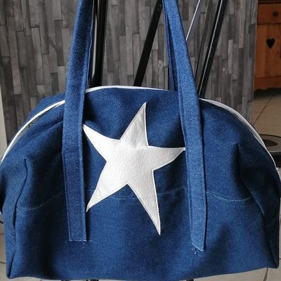 Sac boston en jeans....