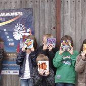 """Festival les """"SARABANDES"""", à Mareuil (16) Exposition Marie Bazin et bancs de poissons...c'est fini ! - Le blog de Marie BAZIN : artiste peintre, chanteuse, graphiste"""
