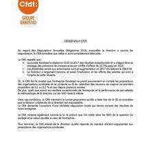 NAO DECLARATION CFDT LORS LA DERNIERE REUNION
