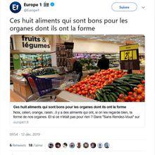 Pitoyable : Europe 1 verse dans l'obscurantisme avec « Ces huit aliments qui sont bons pour les organes dont ils ont la forme »