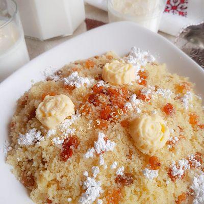 Mesfouf constantinois (couscous sucré de constantine et de  l'est algérien )