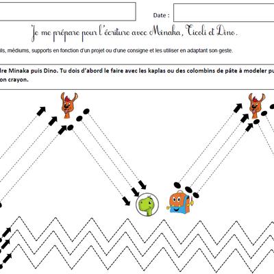 Graphisme avec Minaka, Ticoli et Dino : les lignes obliques