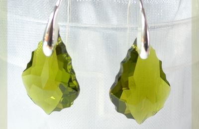 Cristal Swarovski Elements... boucles d'oreilles