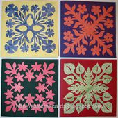 Extreme Cards and Papercrafting: Hawaiian Quilt Block Cards