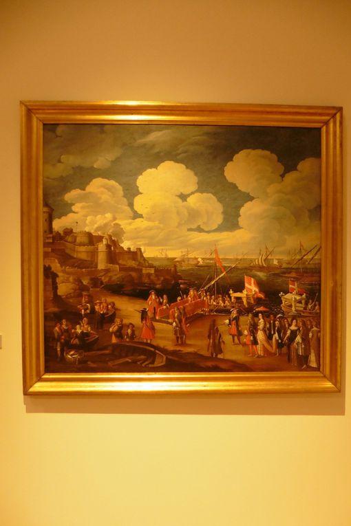 Embarquement du roi Victor - Amédée à Nice (1713), le port de Nice, une carte de Nice au XVIIème siècle