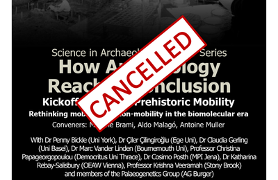 Prehistoric Mobility Workshop **Cancelled until further notice**