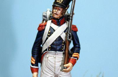 1815024 Caporal du 1er Régiment des tirailleurs grenadiers à Plancenoit.