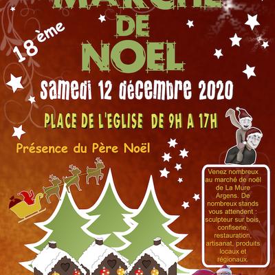 affiche marché de Noel 12 decembre la Mure Argens