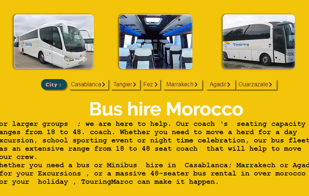 Rent Minibus and Bus in Morocco, Best Prices of Minibus and Bus Rental