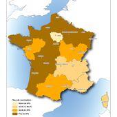 Grippe : avancée du virus et taux de vaccination - Chroniques Cartographiques