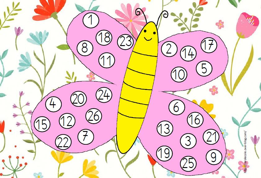 Les papillons lettres et nombres