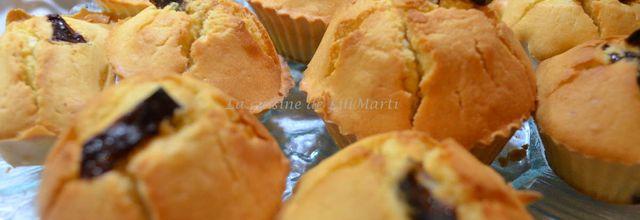 Muffins au goût d'amandes et de caramel salé nature  et prun'oranges