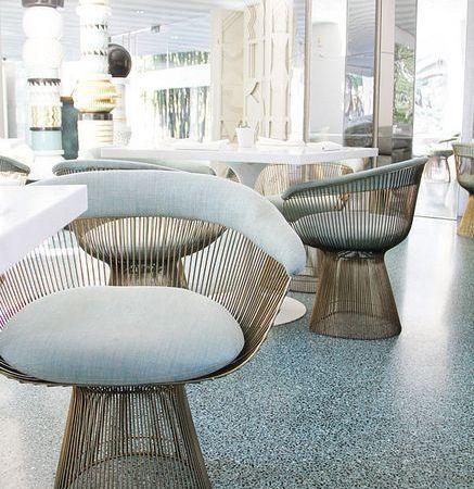 Les chaises de Warren Platner