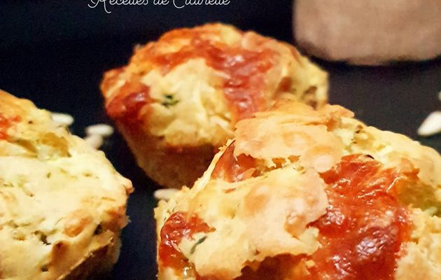Muffins courgettes et scamorza