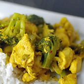 Escalopes poulet brocolis curry weight watchers adaptable cookeo |