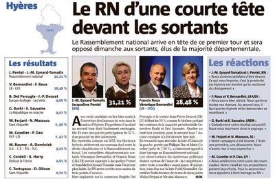 Elections départementales VAR du 21 juin 2021 1er tour