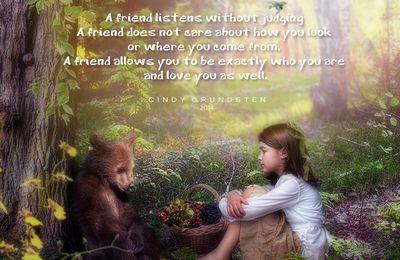 Enfant et ourson...