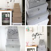Lådor med ny look - Storage box makeover