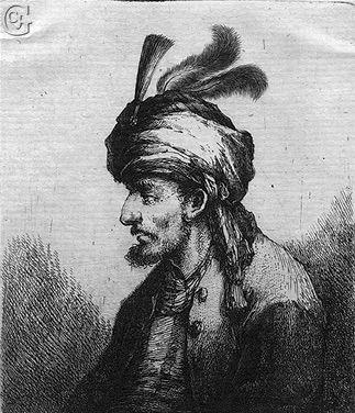 Portrait d'Ali Bey, régent de l'Égypte, par Johann Andreas Benjamin Nothnagel.