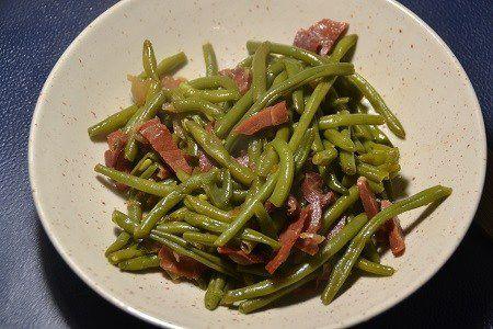 Haricots verts jambon cru cookeo