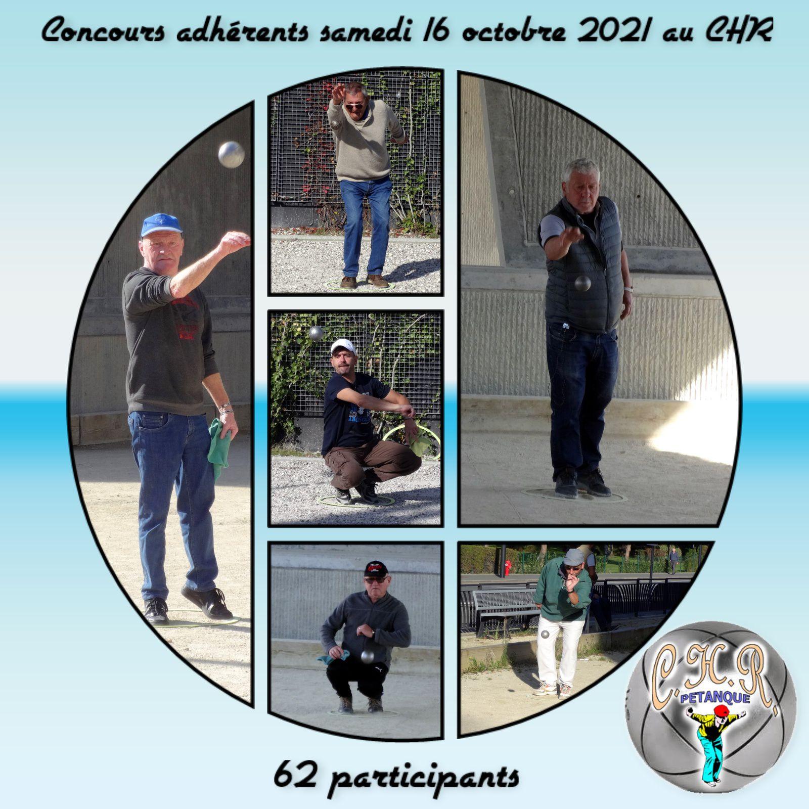 Concours adhérents samedi 16 octobre 2021 au CHR