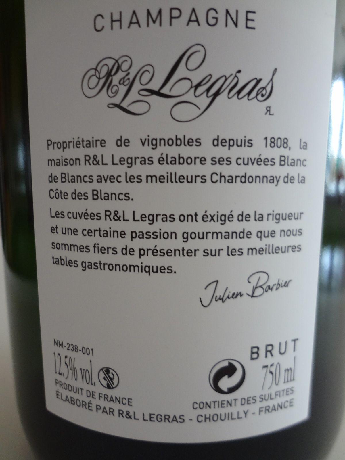 VINO PASSION Dégustation Champagne blanc de blancs.